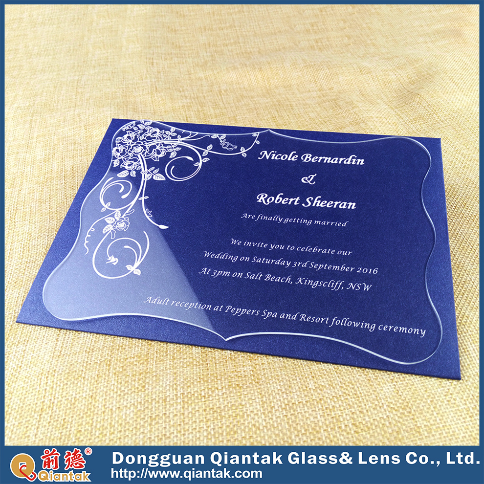 Modern Design Cheap Acrylic Elegant Wedding Invitation For Wholesale
