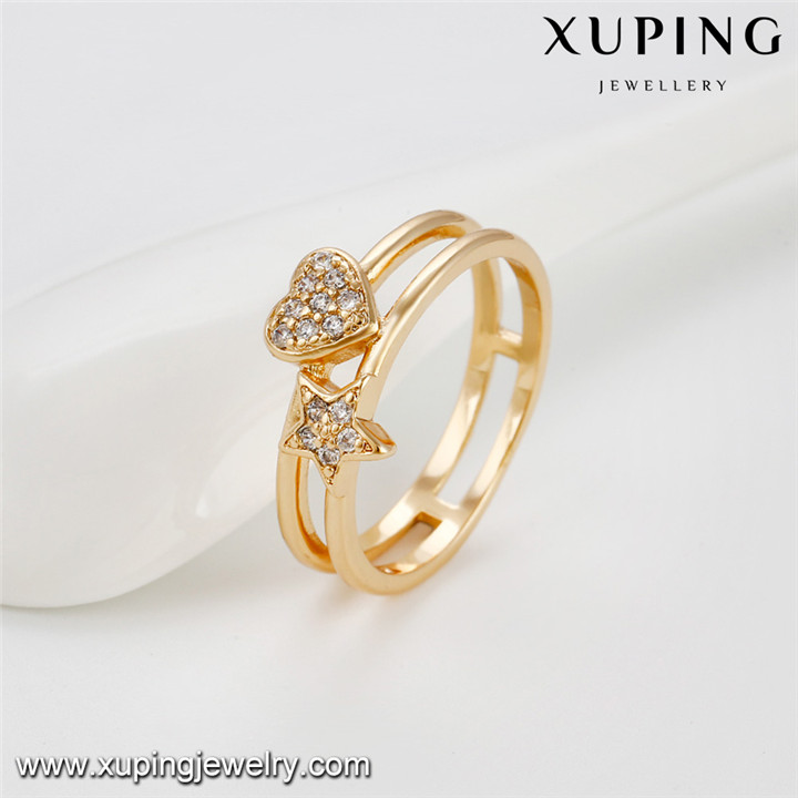 13950 Xuping fashion gold plated costume vogue jewelry engagement rings