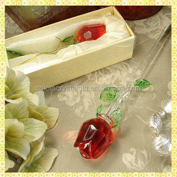Personalized Cheap Crystal Wedding Gifts Rose For Taking Away ...