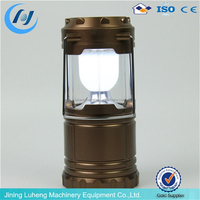 LED ABS rechargeable telescopic solar camping lanterns with indicator light