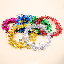 Wholesale Christmas Decor Birthday Party Decorations Artificial Christmas iron Wire Wreath Coloured Ribbon
