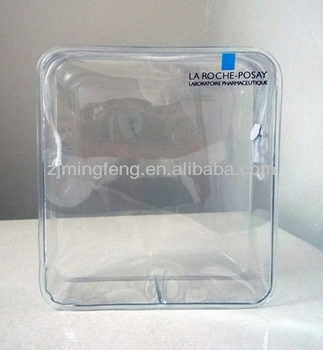 Custom Promotional Clear Vinyl Pvc Zipper Bags Wholesale
