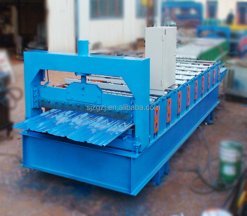 China color coated metal sheet roof tile ridge cap tile cold roll forming machine colored steel profile galvanized cap