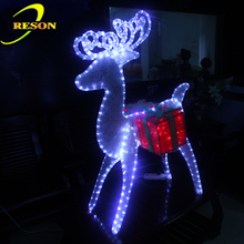 Christmas Led 3d Deer Motif Light With Gift Box
