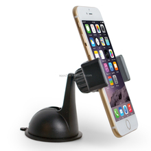 Suction cup car mount, expandable non-skip clamp mobile phone holder