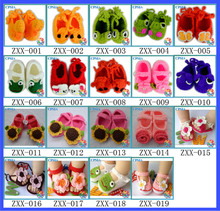 Flower Hand Made Baby Shoes Cute Crochet Knitting Baby Shoes Sweet Girl Shoes