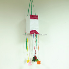 Hanging Paper Pinata Bag for Kids Birthday Party
