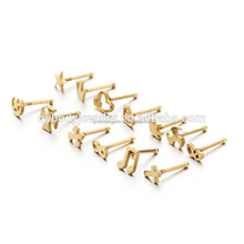 Gold Plated Cross Design Nose Ring Nickle Free Attractive Nose Ring