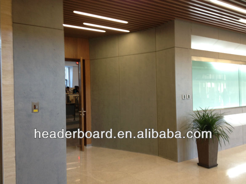 Plant fiber wall panel for interior wall decoration
