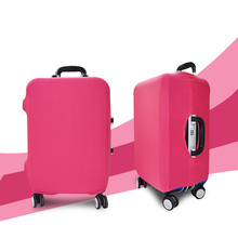 Hot-sale Customized Solid Color Super Elasticity Spandex Cover Suitcase Plastic Luggage Wheel Cover Spandex Luggage Cover