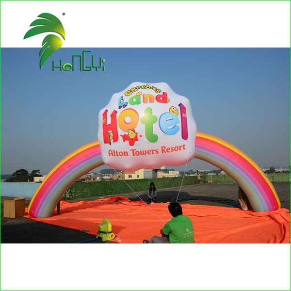 Custom Inflatable Rainbow Archway, Advertising Inflatable Arch Finish Line for Outdoor Event