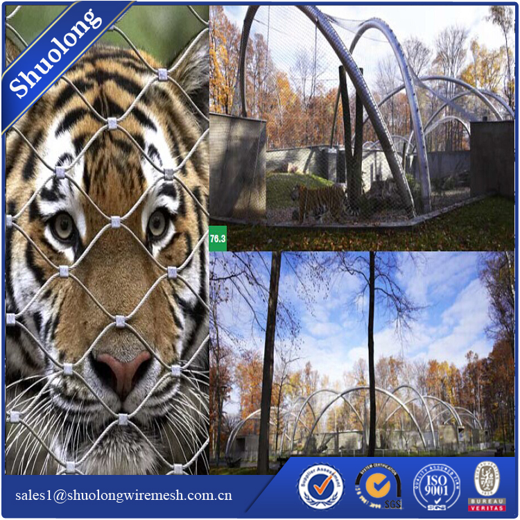Stainless steel X-tend animal enclosure zoo mesh 1.6mmx50mmx50mm