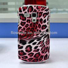 FL676 factory leopard pattern chrome leather Aluminum &case for samsung galaxy s3 mini 2-in-1 case for s3 mini combo