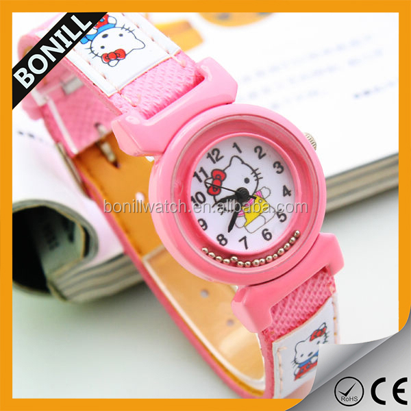 Pretty design cute cartoon silicon quartz kids gift watches as the best christmas gift