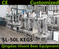 top quality two heads beer can barrel keg filling equipment