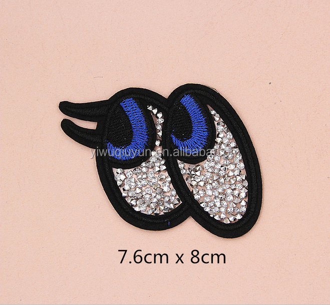 custom Diamond/ Butterfly/ eyes /animal/embroidery patches