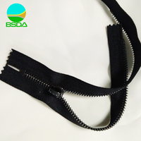 Garment accessory gum color fancy metal zipper for bags with logo