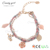 Candygirl brand custom handmade women bead handmade leather bracelet