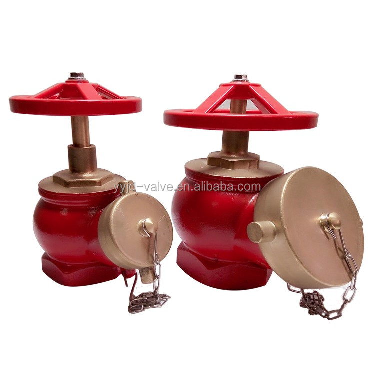 thread fire valve brass hydrant valve red paint Fire Hose Valve Oblique fire hydrant