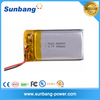 Factory price rechargerable li-ion polymer battery 3.7v 400mah for point reading pen/MP3 / MP4/PDA