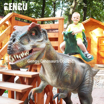 Dinosaur Amusement Park Rideable Dinosaur Ride For Sale