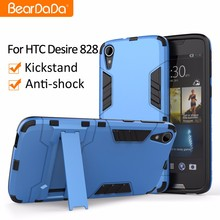 Shockproof kickstand tpu pc back cover case for htc desire 828
