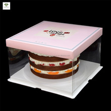 Cheap Plastic Clear Cake Boxes PET Cake Box Design Personalized Unique Pastry Packaging