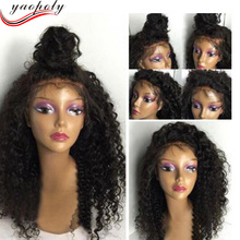 Wholesale cheap price 8A unprocessed brazilian kinky curly 100 import human hair lace front wigs with baby hair