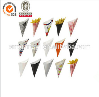 printed paper cone for french fries