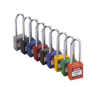 76mm steel long shackel Safety Padlock with master key