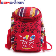 Women canvas vintage crossbody bag small cell phone shoulder bag