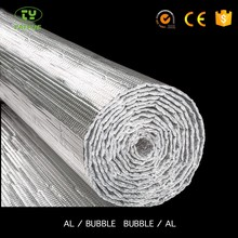 Metallized foil bubble thermal insulation roof heat shield