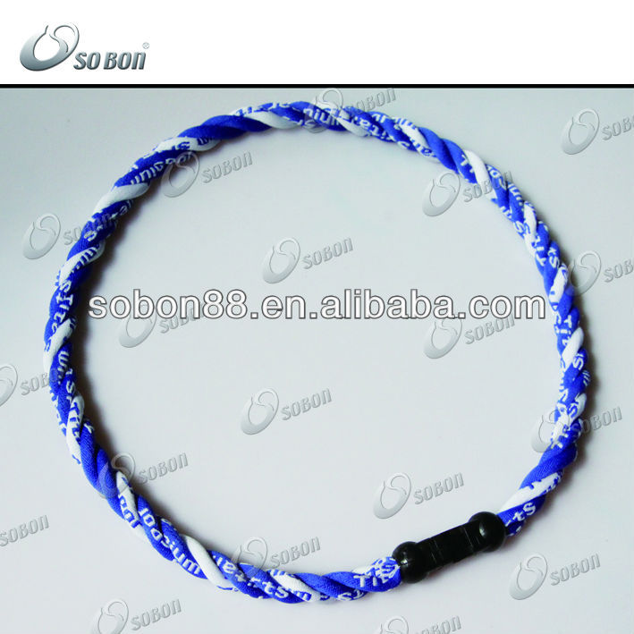 2012 sports triple braided titanium tornado rope necklace