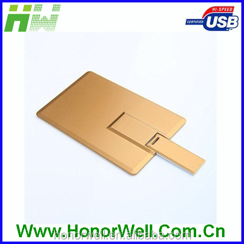 Blank business card id card visa card shaped usb flash memory drive