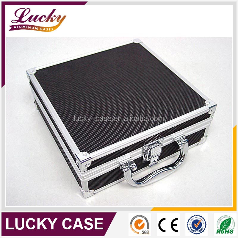 Double side hard aluminum gun carry case with foam