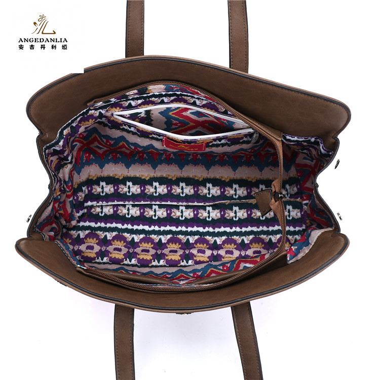 2017 New Designer Handmade Embroidered fair trade tote bags linen handbag for ladies