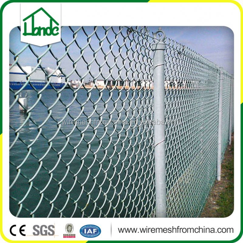 pvc coated galvanized wire chain link fence for baseball fields