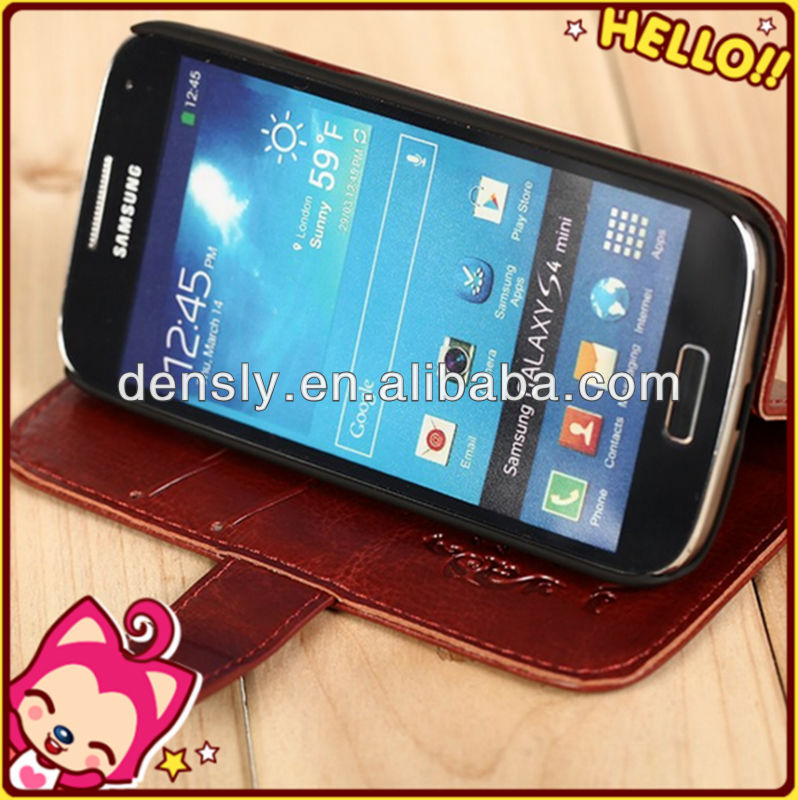 high quality wallet PU leather cell phone case for samsung galaxy s4