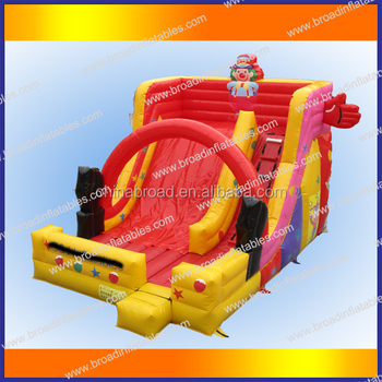 Top quality outdoor giant inflatable slide for sale