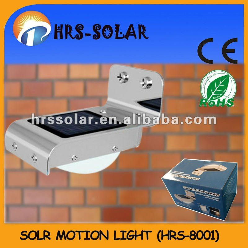 Outdoor solar sensor wall light
