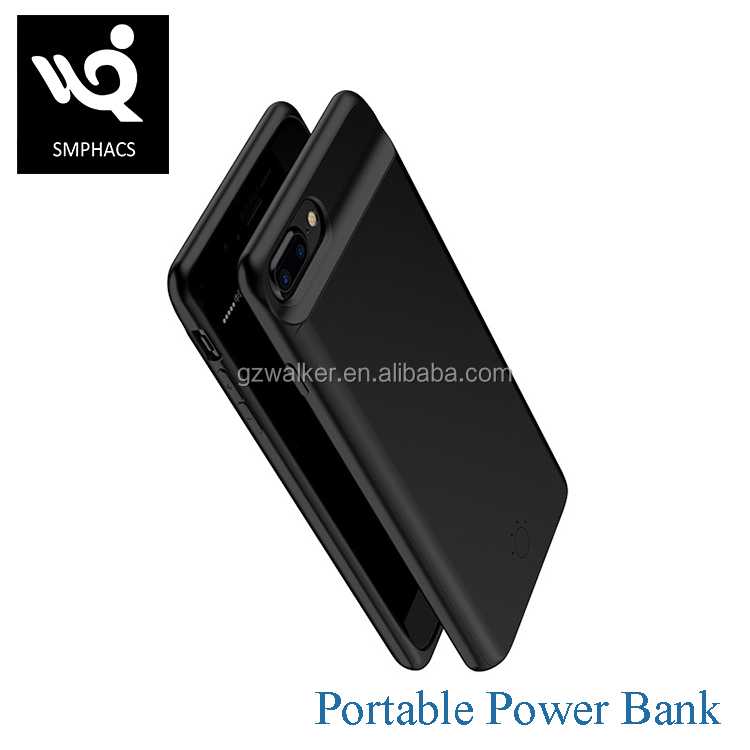 Wireless Polymer Lithium Battery Universal Slim Portable Phone Cover Power Bank Case For 4.7 5.5 inch iphone 6 7 plus
