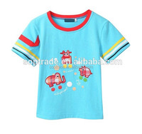 newest fashion high quality embroidery print summer girls short sleeve t-shirt