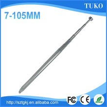 125mm-630mm length 7mm daimeter 7section mobile telescopic unfoldable antenna mast fm radio antenna