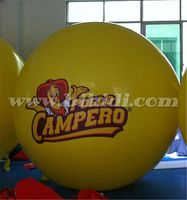 Advertising yellow helium balloon, cheap inflatable sphercial balloon to USA K7068