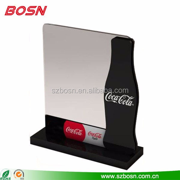 Factory custom acrylic table top menu holder for retail store wholesale
