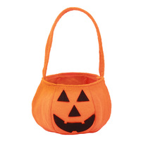 Custom Non-woven Halloween Pumpkin Bags Wholesale Halloween Candy Decor felt Basket Bags
