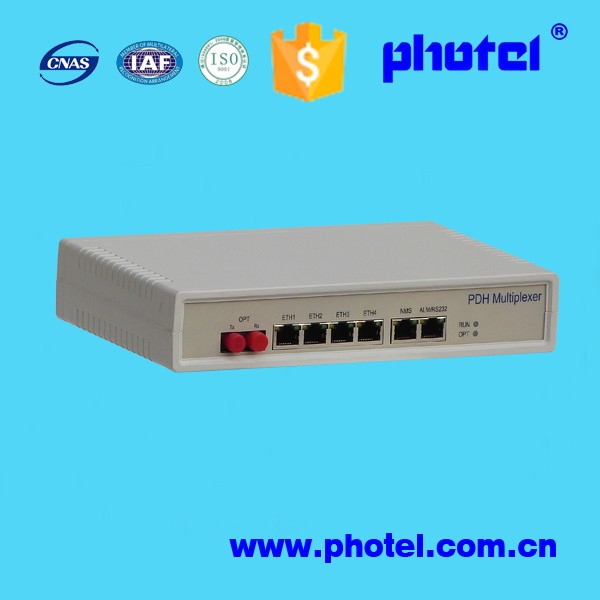 E1 to optic fiber converter(PDH 100M ethernet single mode)