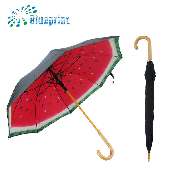 Fruit Printing Double Layer Promotional Windproof Automatic Umbrella