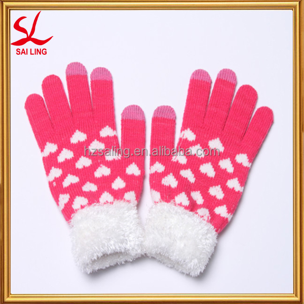 Ladies Knitted Driving Gloves Touch Screen Gloves Cashmere Texting Capacitive Smartphone