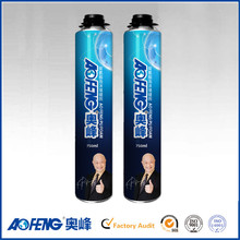 Eco-friendly Factory Price 750ml 950gram Steel Can Loading Low Cost Polyurethane Insulating Foam Sealants and Adhesives